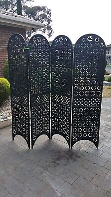 Antique Screen / Room Divider /Fire Place/Very heavy/Solid/Hand made/Steel.