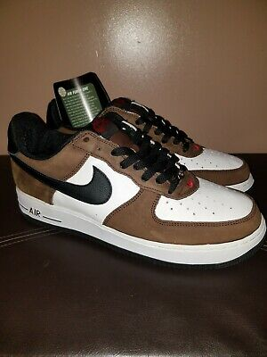 2003 NIKE AIR Force One Mid Canvas Black White Oreo Size 9.5