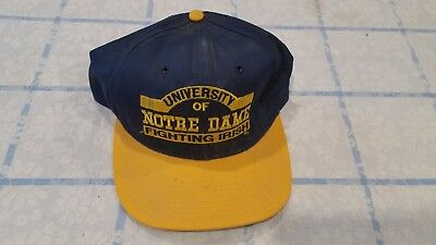 premium selection 6bd0d 33a06 Vintage Notre Dame Fighting Irish P Snapback Hat 90 s Deadstock Throwback