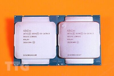 2 X Intel Xeon E5-2670 V3 2.30Ghz 12-Core Cpu Processor - Sr1Xs