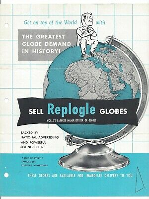 Vintage Replogle Globe Catalog 1954 Original Dealer Price List
