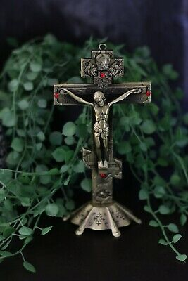 Gold Wall Hanging/Standing Metal ✝️ Christian Crucifix Cross Orthodox