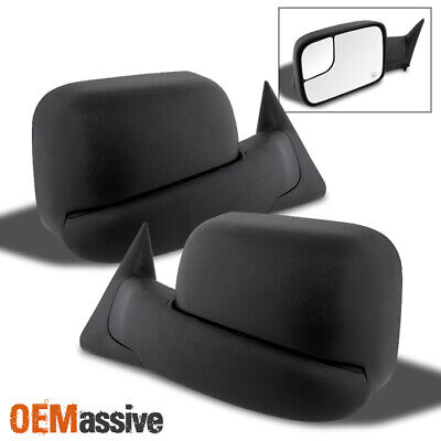Fits 1998-2001 Dodge Ram 1500 2500 3500 Extendable Towing Flip-up Power Mirrors