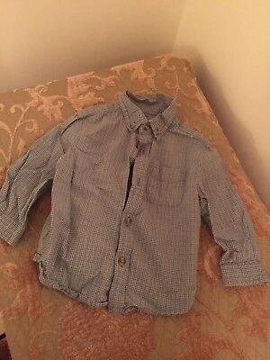 Talbots Boy's 18 Month old Toddler Button Down Long Sleeve  Plaid Shirt