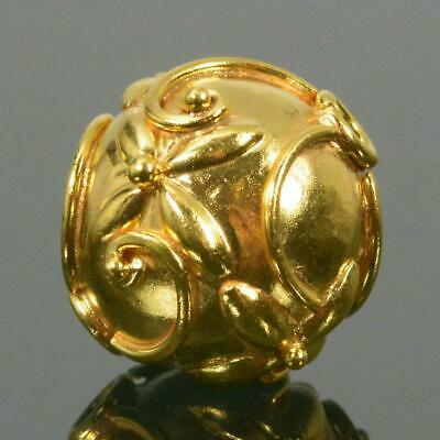 11.80 mm Gold Vermeil Sterling Silver Bali Bead 24K Gold-Plated 2.50 g