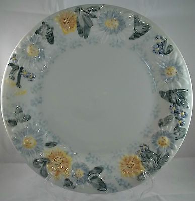 Tabletops Unlimited TU Daisy Patch Dinner Plate Floral Flowers Embossed Yellow