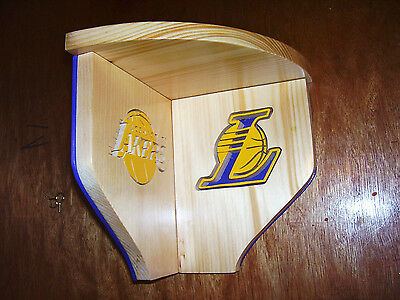 Bobble Heads Lakers corner shelf for collectibles Hand crafted Pinewood