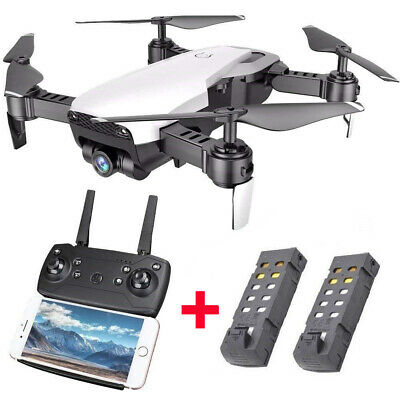 Cooligg Quadcopter Drone 720P HDSelfie Camera WiFi FPV Foldable w/ 2 Batteries