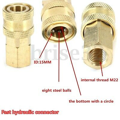 """Pressure Washer 1/4"""" Female NPT Brass Quick Connect Coupler for Cleaning"""