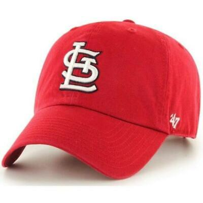 St. Louis Cardinals 47 Brand Clean Up Adjustable Field Classic Red Hat Cap MLB