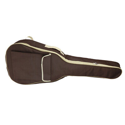 40''41'' Wooden Acoustic Guitar Carrying Padded Case Bag Cover Coffee