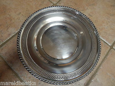 """Antique Classic  Sterling Silver 11 1/2"""" Plate , Server Or Tray, Beautiful"""