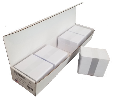 500 BLANK WHITE PVC ID CARDS 30mil, CR8030 plastic ID Cards