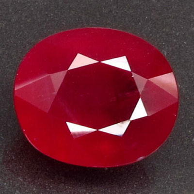 12.59ct.Natural Top Red Ruby Madagascar Very Beautiful Oval Facet AA Blazing Gem