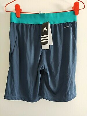 ADIDAS Boys shorts Size 11/12 Sports Climalite Fabric BRAND NEW With tags
