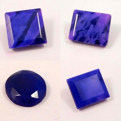 Faceted Natural Dyed Oval & Cushion Shape Blue Sapphire Gemstone RM13019-13055