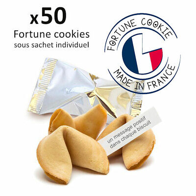 50 fortune cookies biscuits porte-bonheur Made in France