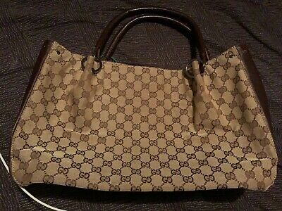 d48b251e0c24 Gently Used Brown Authentic Gucci Handbag With Duster and Serial Number