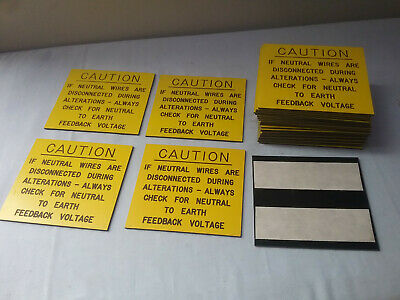 "(28 Pieces) Electrical Box Safety Sign Stickers ""Caution Disconnect During Alter"