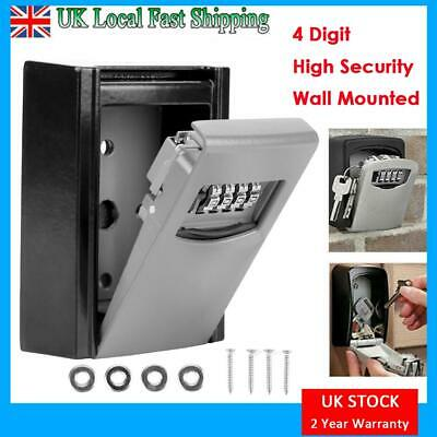 HIGH SECURITY WALL MOUNTED KEY SAFE BOX CODE SECURE LOCK STORAGE 4 Digit OUTDOOR