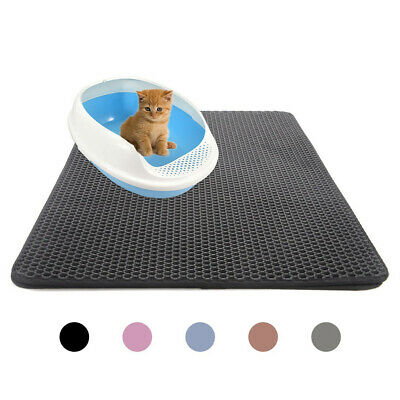 Cat Waterproof Double-Layer Cat Litter Mat Trapper Foldable Pad Pet Rug Home Hot