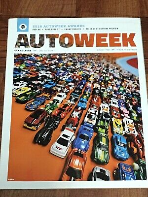 Lot Of 4 Autoweek Magazines - January, February, & March 2019