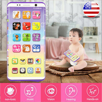 Baby Simulator Music Smart Cell Phone Touch Screen Educational Kids Children Toy