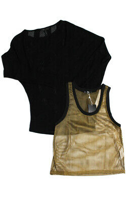 c17fe9ce Zara Collection By Basic BCBG Womens Top Black Gold Size 2XS Small Lot 2