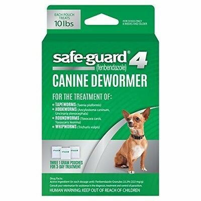 Excel 8in1 Safe-Guard Canine Dewormer for Dogs, 3-Day Treatment - Small