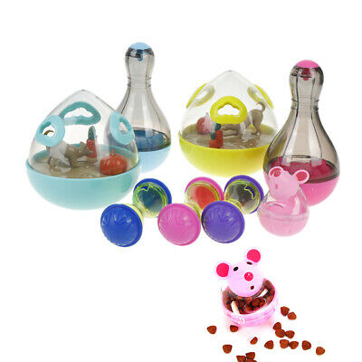 Cat Dog Feeder Plastic Funny Pet Food Dispenser Treat Ball Puppy Leakage Toy NT
