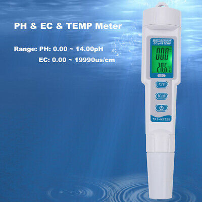 Professional Multi-function 3 in 1 LCD Display TDS EC PPM Water Quality Tester