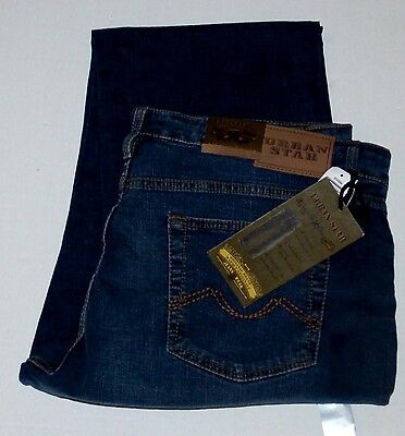 New mens Urban Star Jeans Relaxed Fit Straight Leg Stretch Jeans 42 32