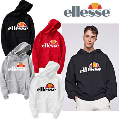 Ellesse Gottero Oh Hoodie Anthracite Capuche Hooded Sweater Mens Tops Pullover