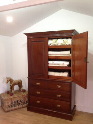Victorian Linen press by J shoolbred & co