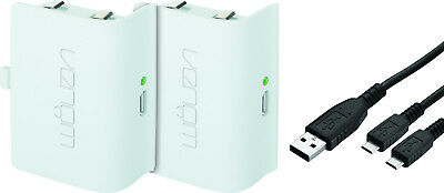 Venom Xbox One Controller Rechargeable Battery Twin Pack - White - VS2860