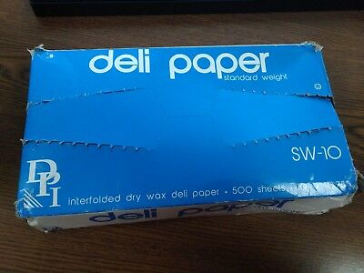 """10"""" x 10.75"""" Interfolded Dry Waxed Deli Paper 500 Sheets"""