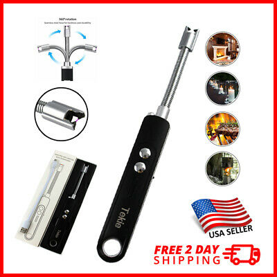 ARC ELECTRIC USB CANDLE LIGHT Rechargeable Windproof for BBQ Plasma Lighter
