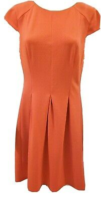 7eb1dafc3de3 AGB Coral Sheath Dress Size 12, Knee Length, Short Sleeve, Boat / Scoop
