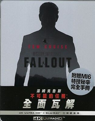 Mission: Impossible: Fallout 3-Disc 4K Limited SteelBook w/Slip (Taiwan Import)