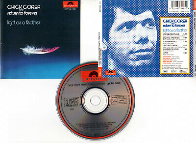 """CHICK COREA AND RETURN TO FOREVER """"Light As A Feather"""" (CD) 1973"""