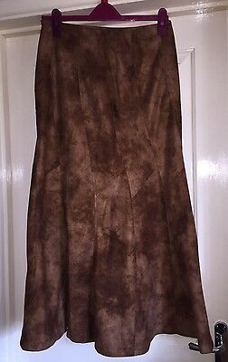 Fitwell Suedette Boho Skirt, Soft Feel, Size 10-12 - Super!