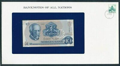 Norway: 1982 10 Kroner Banknote & Stamp Cover, Banknotes Of All Nations Series
