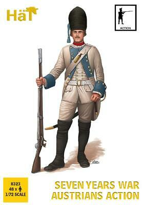 Hat 8323 7 Years War Austrian Action Syw Infantry Set 1/72 Scale Austrians