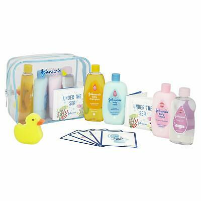 ** 8Pc Johnsons Baby Bathtime Set Shampoo Oil Sponge Book New No Tears Mild Gift