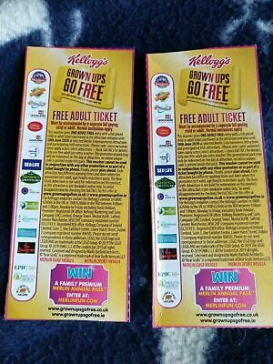 2 x FREE Adult Entry Legoland Chessington Thorpe Park Alton Towers London Eye