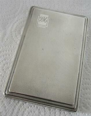 Vintage Quality Heavy Solid Silver Art Deco Cigarette Case By JR 208g Birm1940