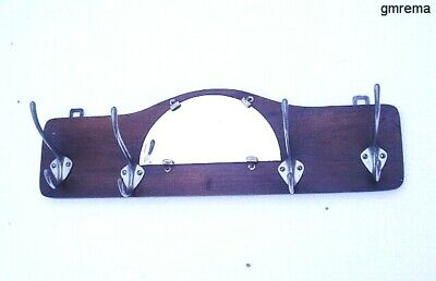 ART DECO SPIEGEL WAND GARDEROBE FRANCE  um 1930 ART DECO  COAT RACK WITH MIRROR
