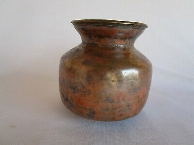 1900's Old Vintage Heavy Handmade Pot Copper Water Pot Lota/ Kalash C2