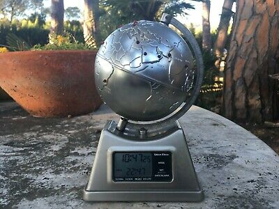 Mini Light Up Globe Clock Made in Japan Union Elecs Corp. GCD-4 Global Clock 80