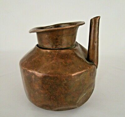 1850's Old Antique Heavy Handmade Pot Copper Water Pot Lota/ Kalash C3